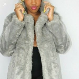 Jackets & Blazers - Faux fur  shearling coat